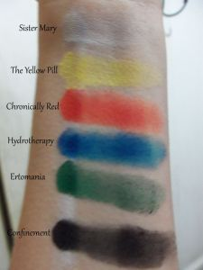 Colour swatches! NYX Milk on the left, primer on the right.